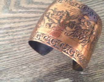 Copper Cuff Bracelet, copper, vintage.