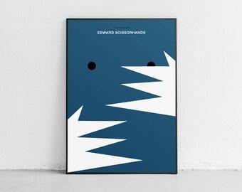Edward Scissorhands. Fan art. Original poster. High quality giclée print. signed by designer.
