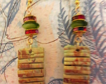 CLAY DANGLE EARRINGS