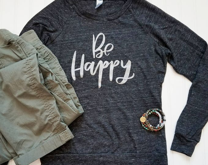 Featured listing image: BE Happy Heathered Black Long Sleeve