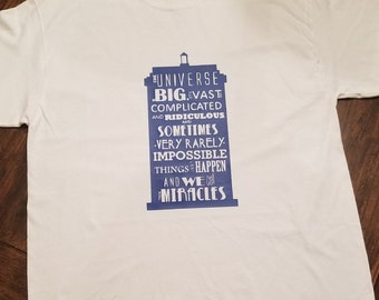 TARDIS Inspired Quote Doctor Who Unisex Adult Shirt