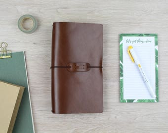 "Traveler's notebook ""chestnut"" - regular"