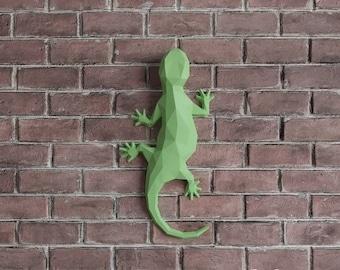 Salamandra DIY Paper Model, Papercraft, 3d Paper Sculpture, Wall Decor, PDF Kit, 3d Puzzle, DIY Gift, Instant Download