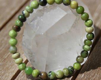 Bracelet beads and jade rondelles