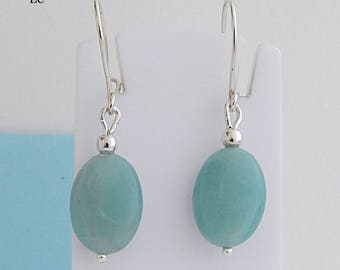 Earrings in silver and Amazonite stone