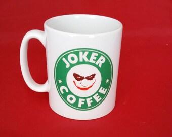 Batman Joker Starbucks Inspired Coffee Mug 10oz - Heath Ledger