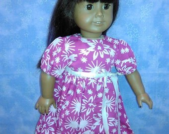 Pink party dress for American girl doll