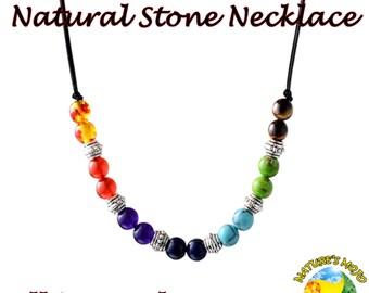 7 Chakra Multicolor Natural Stone Necklace