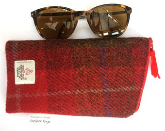 Glasses case / Harris Tweed Glasses case / Spectacle case / sunglasses case