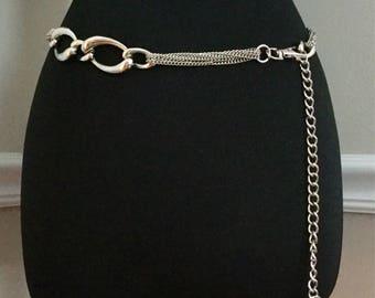 Vintage Anne Klein Lion Fob Chain Belt