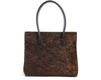 Brown Cowhide Tote | Exact Bag you Will Receive | Handcrafted in England