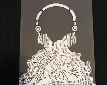 headphone and music