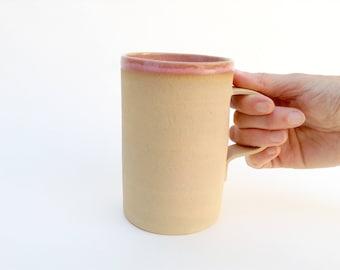 Handmade ceramic mug. Rustic mug. Organic mug. Ready to ship mug. Earth tone mug.