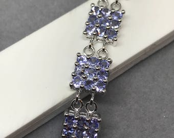 925 Silver Natural Tanzanite Bracelet, Appraised 1,318 USD