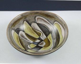 Vintage Danish Bowl, Signed Alma 85, Modernist Pottery, Mid Century Pottery, Scandinavian Pottery, Art Pottery