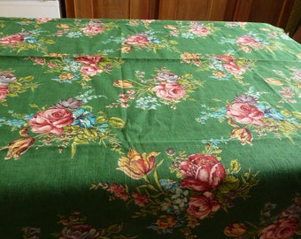 linen fabric old nine pattern pink flowers french Linen french fabric
