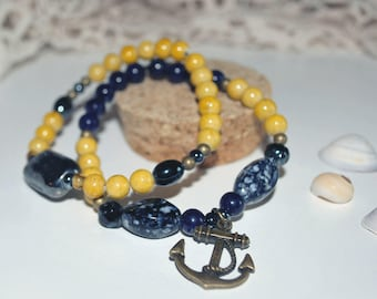 Pair of anchor bracelets