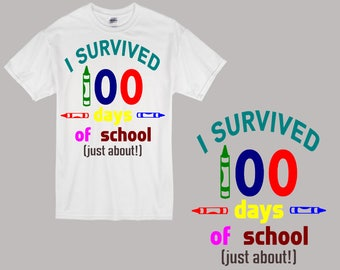I Survived 100 Days of School SVG Cutting File