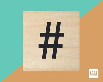 Hashtag - 1.5cm Rubber Stamp (DODRS0195)