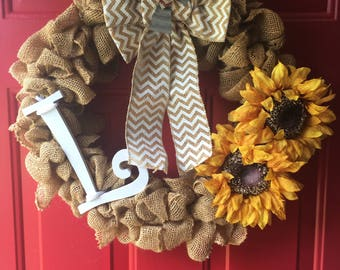 Personalized Burlap Wreaths