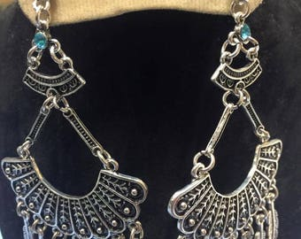 Unique Egyptian Silver Plated Earring Made In Egypt
