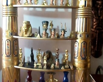Ancient Egyptian Unique Home Decor Columns of Shelves Made In Egypt