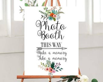 Wedding Photo Booth Sign, Printable Sign,   Wedding Printables, country Wedding sign, Instant Download
