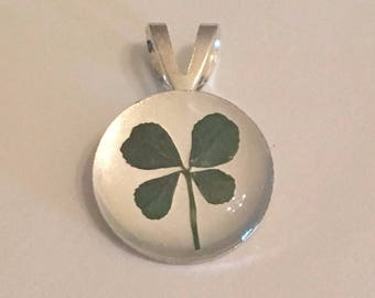 Small Real Four Leaf Clover Charm
