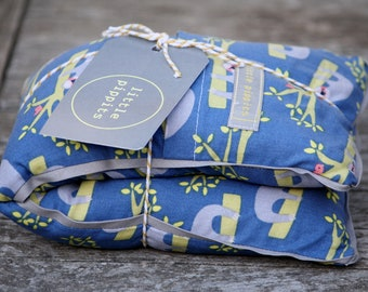 Handmade Microwavable Rice Bag Heatpack with Removable Cover