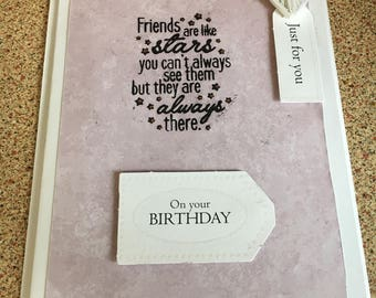 Friends female birthday card