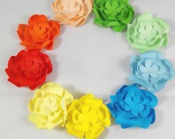20 mini envelopes rainbow color gift card birthday handmade