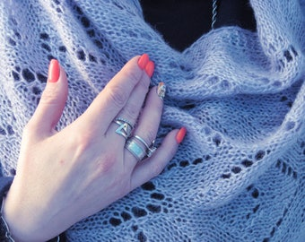 Gifts-for-wife-Gift-for-her knit scarf knitted shawl Women shawl crochet pattern Knitting Pattern Knit shawl Women birthday gift accessories