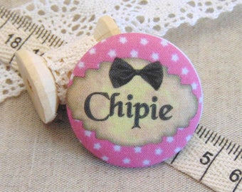 1 cabochon 19mm x fabric snips ref A13