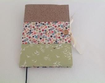 Handmade fabric notebook cover