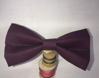 Eggplant Purple Bow tie