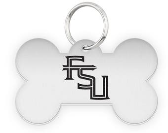 Florida State University Seminoles Dog Tags | Pet Tags | Cat Tags | Necklace | College Pet Tags