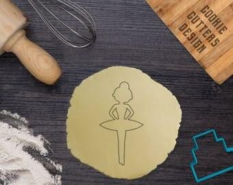 Ballet cookie cutter / Ballerina cookie cutter / Ballerina fondant cutter