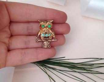 Owl Brooch - Owls - Owl Pin - Animal Brooch - Animal Pin - Pins and Brooches - Bird Pin - Kid's Brooch - Birds - Vintage Brooch - Gift