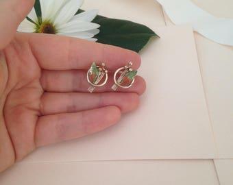 Leaf Earrings - Leaves - Screw Back Earrings - Clip on Earrings - Simple Earrings - Simplistic Earrings - Delicate Earrings - Vintage Style