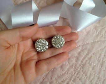Sarah Coventry - Sarah Cov - Sarah Coventry Reversible Earrings - Rhinestone Earrings - Pearl Earrings - Clip on Earrings - Clip Earrings