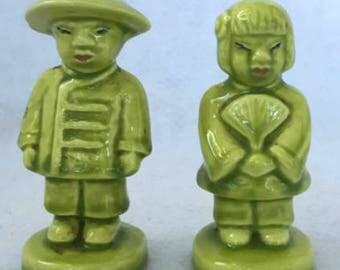 Vintage Oriental Boy and Girl Salt and Pepper Shaker