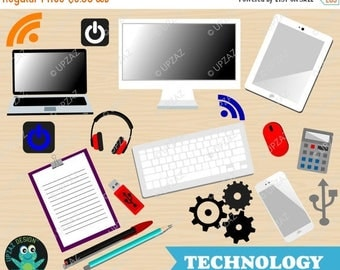 75% OFF SALE Technology Clipart, Office Clipart, Technology Symbol Clipart, Commercial Use - UZ1001