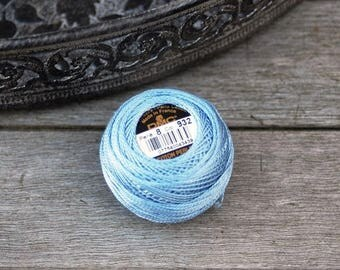 Coton perlé DMC coloris 932 n#8  - art 116 - pelote 10g