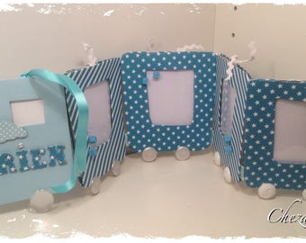 Frame built train for eight shaped small baby pictures