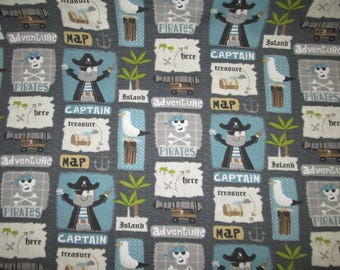 "Cotton lycra to ground pirate 70 ""wide, grey, turquoise"