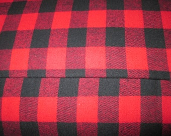 """Fabric cotton flannel caroter buffalo, small tile flannel 60 """"wide"""