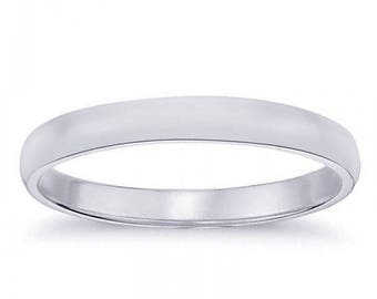 ON SALE 3.7mm 14K White Gold Wedding Band
