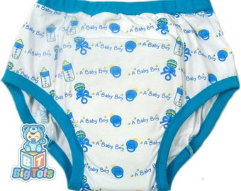 Adult Baby It's a Boy training pants ABDL