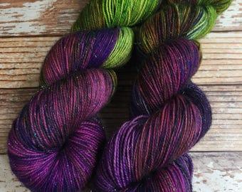 Brillante - Rainbow Dash - Hand Dyed Yarn - 75/20/5 Superwash Merino/Nylon/Stellina
