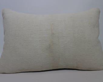 16x24 White Kilim Pillow Sofa Pillow 16x24 Turkish Kilim Pillow Handwoven Kilim Pillow Naturel Kilim Pillow Cushion Cover SP4060-1054